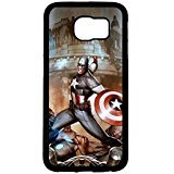 Galaxy S6 Case, Captain America Character Cartoon Design Hardshell Case Cover for Samsung Galaxy S6