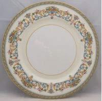 Aynsley, John Henley (Smooth,gold Trim,green Backstamp) Salad Plate