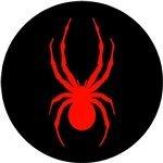 Spider Red Black Motorcycle Helmet Sticker - Spider Motorcycle