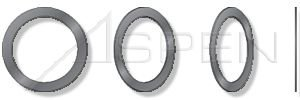 (50 pcs) ID=50mm, OD=62mm, THK=1mm DIN 988, Metric, Precision Shim Rings, Steel, Plain by ASPEN FASTENERS