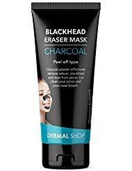 DERMAL SHOP Blackhead Eraser Mask 50g - Charcoal Blackhead and Sebum Remover Peel off Black Mask