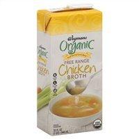Wegmans Chicken Broth, Organic, Free Range, Low Sodium, 32oz (Pack of 4)
