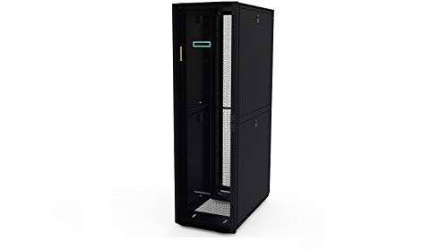 HP P9K18A 800mm x 1200mm G2 Kitted Advanced Shock Network Rack with Side Panels and Baying - Rack - Black - 42U - 19 inch