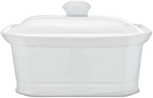Cosy & Trendy RH46635 Terrine Pâté à couvercle, Porcelaine - Blanc - 1L