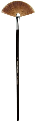 da Vinci Varnish & Priming Series 405 Fan Blender Brush, Kolinsky Red Sable with Black Polished Handle, Size 5 by da Vinci Brushes