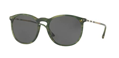 Burberry Men's BE4250Q Sunglasses Striped Green/Grey 54mm