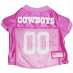 Pets First NFL Dallas Cowboys Pet Jersey, Medium, pink -