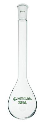 Chemglass CG-1513-02 Series CG-1513 Kjeldahl Flask, Long Neck, 24/40 Outer Joint, 300 mL Capacity by Chemglass