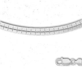 3 Mm Omega Bracelet (Sterling Silver 8 Inch X 3.0 mm Omega Bracelet)
