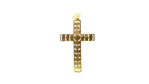 forever22karat 22k Elegant Unique Religious Jesus Cross Pendant 22k Plated p2009