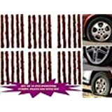 Shopee Set of 60 Pcs (30+30) Car Bike Auto Tubeless Tyre Puncture Strips/ Plugs with Kit