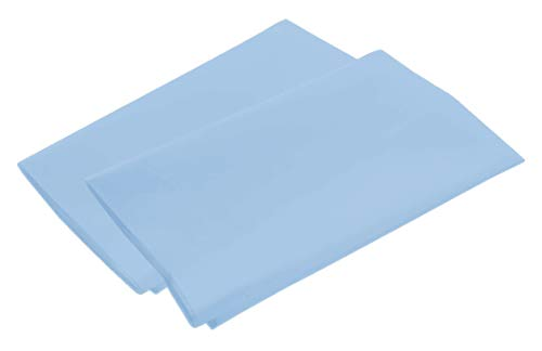 100% Egyptian Luxury Cotton 2-Piece Pillowcase Set with 4-Inch Hems - Standard, Light Blue (21x30)