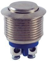 ON Nickel Plated Brass Curved Actuator OFF- Screw Terminals 2 Amp SPST-NO Circuit 0.748 Bushing 48V 0.748 Bushing Inc. NTE Electronics 54-376 Anti Vandal Security Pushbutton Switch Action Single Pole