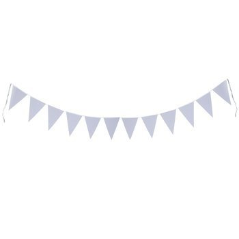 Mixed Media White Ready-to-Decorate Banner with 12 Pennants 8x12 inches each