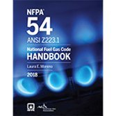 Nfpa 54  National Fuel Gas Code Handbook  2018