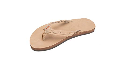 Rainbow Sandals Kid's Single Layer Premier Leather Flirty Braidy, Sierra Brown, Toddler 7-8 B(M) US ()