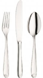 PINTI INOX - GR.3 6 pcs. Table Spoon FLAVIA C/CH.ARANCIO