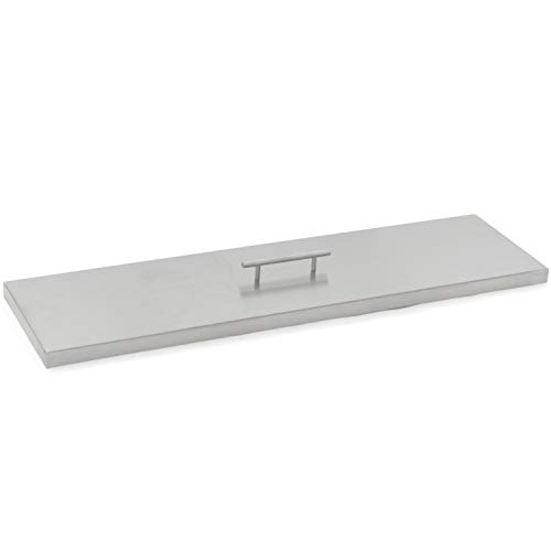 Lakeview Outdoor Designs 33-Inch Stainless Steel Burner Lid - Fits 30-Inch Linear Fire Pit Pan