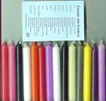 Ritual or Spell Chime Candles 10 Different Colors -  Chi-0918