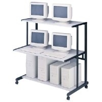 NetStart 48 Wide LAN Support Station, 50 w x 30d x 50h, Graphite/Light Gray - Sold as 1 Each by Mayline