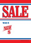 D30SLB ''Sale Patriotic'' Unstrung Drill Sale Tags (No Strings) Small Price Cards - 3 1/2'' x 5'' (100 Pack) Furniture, Flooring, Business Store Signs