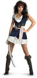 Sassy Jack Sparrow Costumes (Sassy Jack Sparrow Costume - X-Large - Dress Size 18-20)