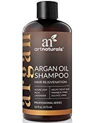 ArtNaturals Argan Hair Growth Shampoo - (16 Fl Oz / 473ml) - Sulfate Free - Treatment for Hair Loss, Thinning & Regrowth - Men & Women - Infused with Biotin, Argan Oil, Keratin, Caffeine by ArtNaturals