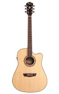 Washburn (ワッシュバーン) WD10SCE Acoustic-Electric Cutaway Dreadnought Guitar, Natural エレクトリックアコースティックギター エレアコ ギター(並行輸入) B00J6VT4IS