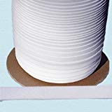 Bias Tape ~ 1/2'' Wide Double-fold Bias Tape ~ White Poly Cotton (10 Yards/Pack) by NY Binding
