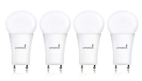 Hyperikon GU24 Light Bulb Dimmable, 60 Watt (12W), A19 LED Bulb, 4000K Daylight, 4 Pack ()
