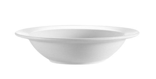 CAC China HMY-10 6-3/8-Inch Harmony Porcelain Grapefruit Bowl, 13-Ounce, White, Box of 36