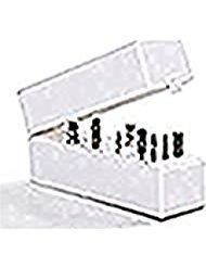 Major Dijit30 Holes Nail Drill Bit Holder Exhibition Stand Display Organizer Container Storage Box (white)