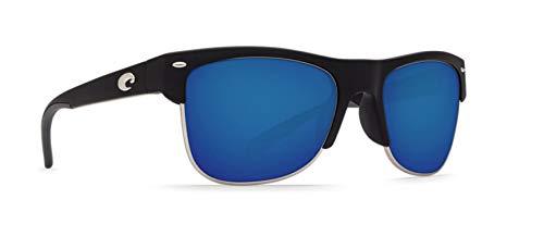 Costa Del Mar PW11OBMGLP Pawley's Sunglasses 580Glass, Matte Black Blue Mirror, - Glass Matte Black Mirror Blue