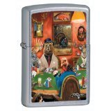 Zippo Lighter LP-Big Game Turkey, Street Chrome by Zippo