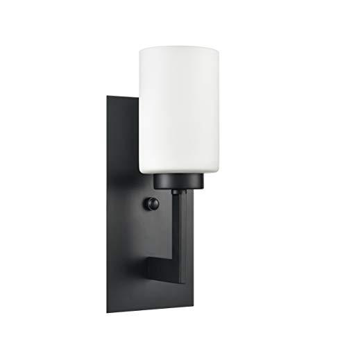 Brio Wall Sconce Light Fixture | Black Bathroom Wall Fixtures LL-WL151-BLK