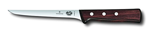 Victorinox 6 Inch Straight Rosewood Boning Knife with Stiff Blade (Stiff Straight Blade)