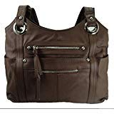 Concealment Gun Purse for Right or Left Hand Draw with Lock-Brown