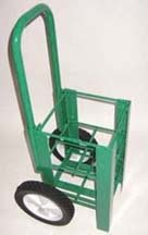 FWF HEAVY DUTY OXYGEN CART HOLDS 4 (D OR E STYLE) CYLINDERS DIAMETER 4.3'' MADE IN USA