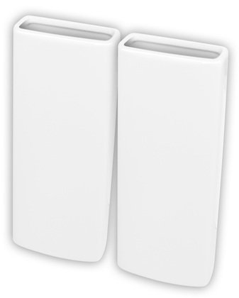 Set of 4 Ceramic Humidifiers Vertical Radiator, White Ideapiu
