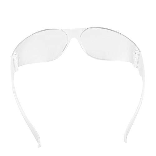 Pudincoco Occhiali di Protezione di Sicurezza Occhiali Antivento Antipolvere Occhiali di Sport allAria Aperta Occhiali di Riciclaggio di Biciclette Anti graffio Trasparente