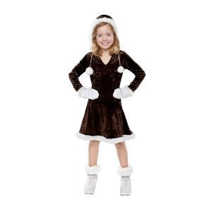 [Eskimo Cutie Halloween Costume Dress for Girls Size Small 4-6] (Kid Eskimo Costume)