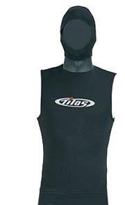 5/3mm Tilos SuperStretch Hooded Vest for Scuba Diving, Snorkeling, Surfing, Water Sports, SM