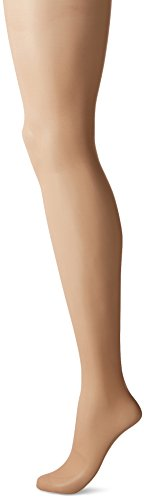 CK Women's Matte Ultra Sheer Pantyhose with Control Top, Nude, Size B