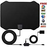 #7: HDTV Antenna,Indoor Amplified TV Antenna 50 to 70 Miles Range with Detachable Amplifier Signal Booster and 16 Feet Coaxial Cable (Black)