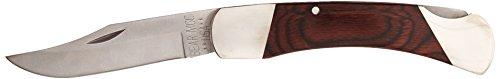 Bear & Son Cutlery 297R Rosewood ProfeStainless Steelional Lockback with Leather Sheath Knife, 5