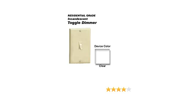 Leviton 6693 600w incandescent toggle dimmer single pole and 3 leviton 6693 600w incandescent toggle dimmer single pole and 3 way clear wall dimmer switches amazon sciox Choice Image