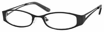 Seventeen 5320 in Black Designer Reading Glass Frames , Demo Lens