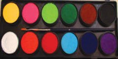 Face Paint Palette by Diamond FX (Essential 12 Colors)