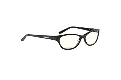 GUNNAR Reading Glasses/Jewel 3.0x Power, Clear Tint - Patented Lens, Reduce Digital Eye Strain, Block 35% of Harmful Blue Light
