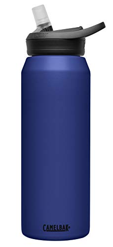 CamelBak eddy+ Vacuum Stainless Insulated Water Bottle, 32 oz, Navy